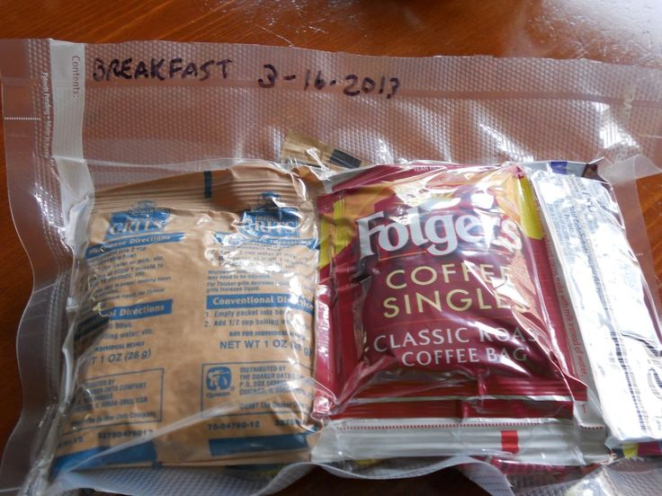 Bug Out Bag Meals: DYI MREs.. CAN'T FORGET THE COFFEE!!