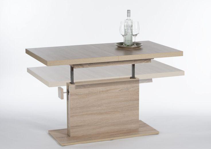 Konferenční stolík MONACO - SCONTO NÁBYTOK-rozkladací stolík výškovo nastaviteľný do výšky jedálenský stola