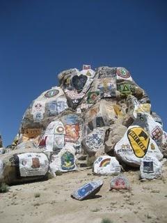 unit logos on painted rocks