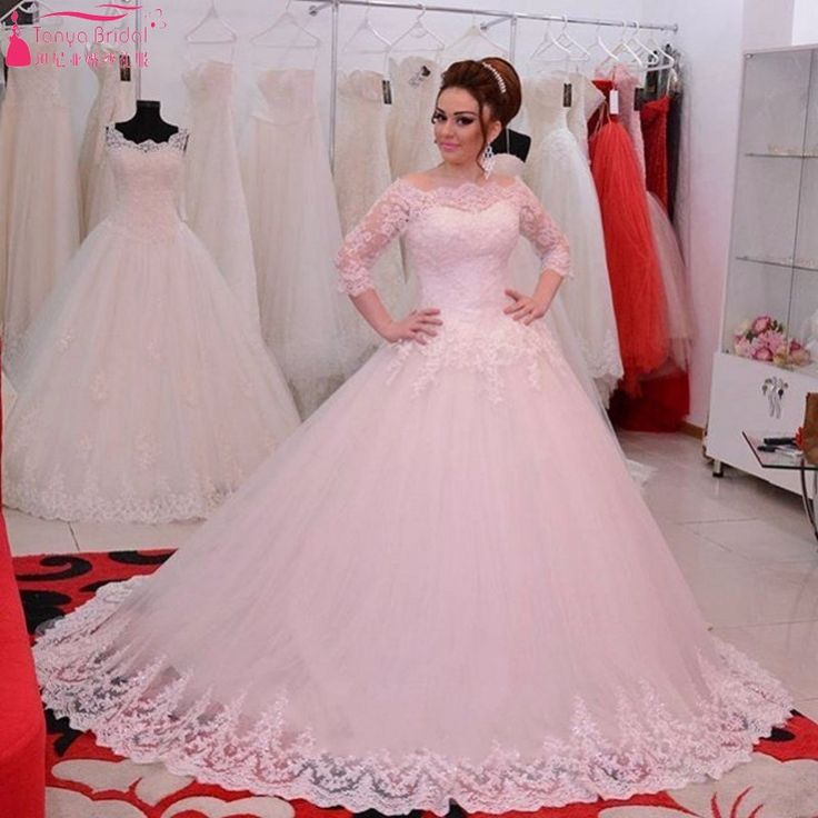 Simple Cheap bridal gown Buy Quality ball gowns directly from China vestido de noiva Suppliers vestido de noiva Wedding Dress Plus Size Ball Gown Half