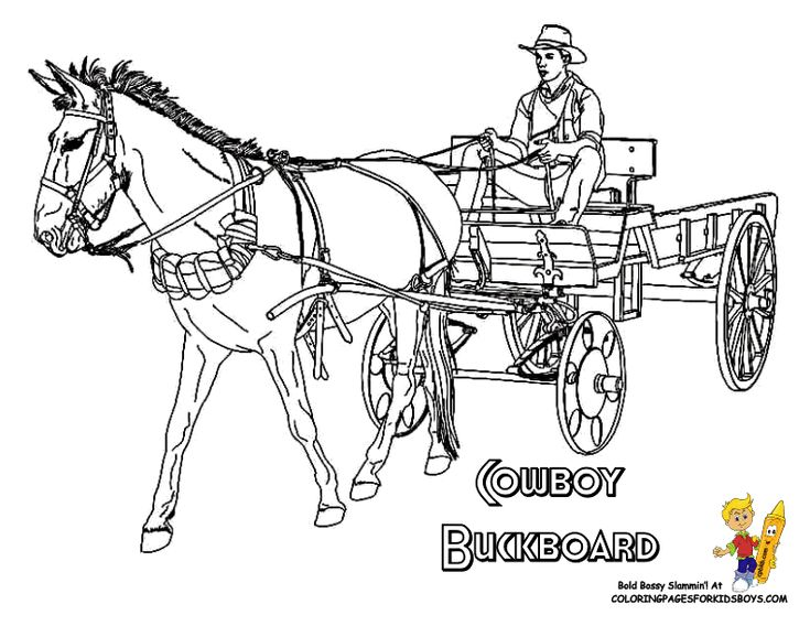9 best Cool Cowboy Coloring Pages images on Pinterest