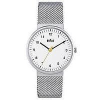 Braun Uhren Damen 3-Zeiger-Quarzwerk Uhr weiß Maschenband