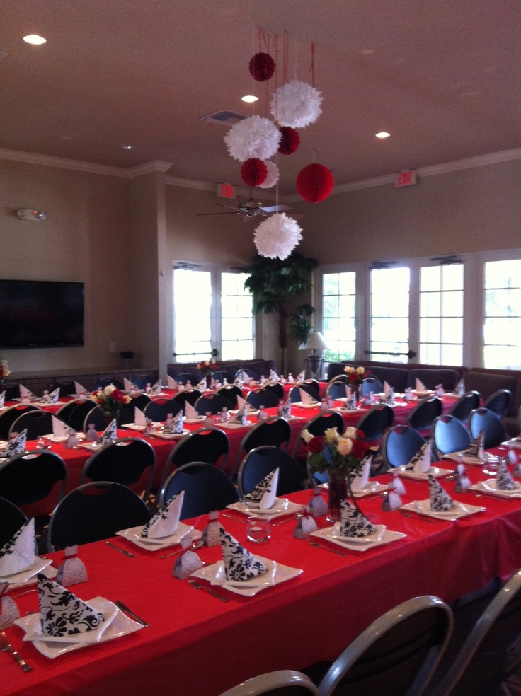 28 best images about red white and black decor on pinterest receptions white weddings and - Red and white decorations ...