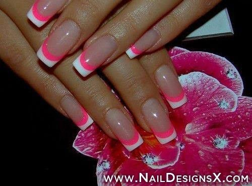 129 best acrylic nail designs nail art images on pinterest hot pink and white french manicure find this pin and more on acrylic nail designs prinsesfo Images