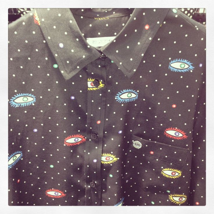 Our eye-print blouse from SIS AW1314 collection! #eyeprint #blouse #cool #sisbyspijkersenspijkers