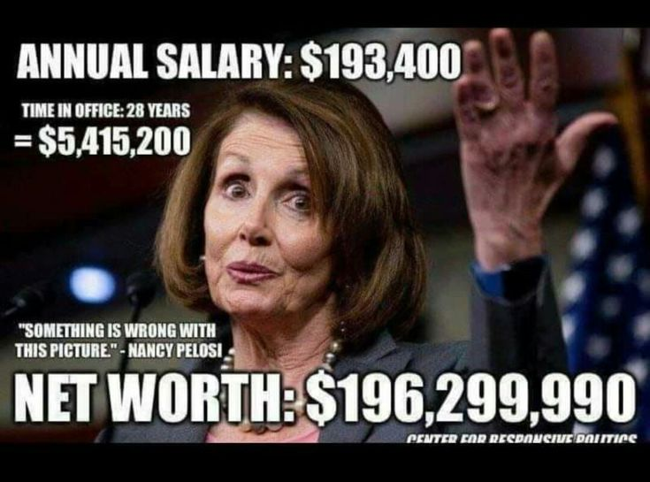 She doesn't have a brain to be financially savvy. Must be her  government kick backs