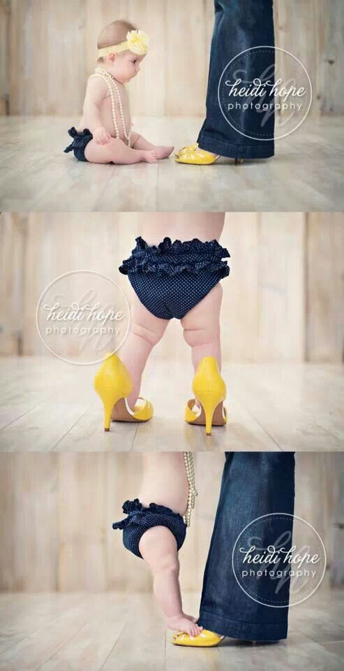 Think I might try this. But make it with daddy's boots and daddy's girl.