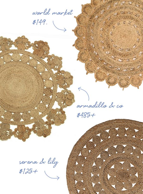 round-jute-rugs - drooling over these rugs! wishing i had a round table!
