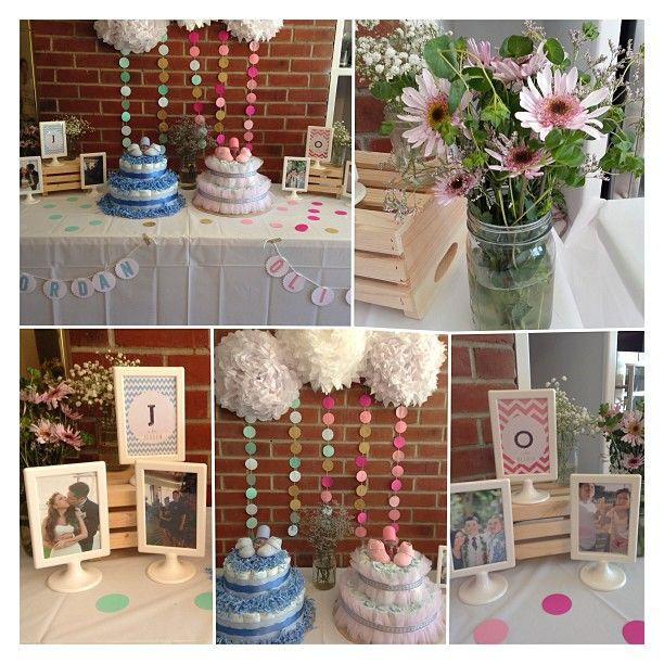 DIY Baby Shower For Babies Jordan + Olivia. Blues And Pinks For The Boy And