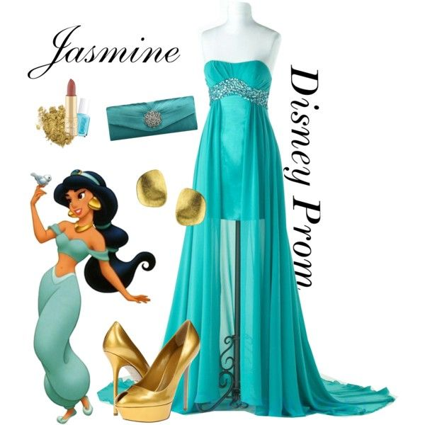 """Disney Prom: Princess Jasmine"" by turquoiseivy on Polyvore"