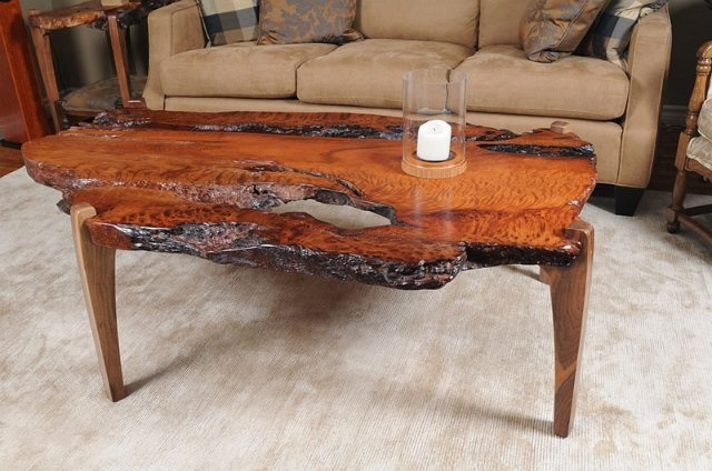 Amazingly Figured With Bark Pockets Showing Forest Fire Damage On This  Redwood Root Coffee Table With Walnut Legs. | Fine Furniture | Pinterest |  Live Edge ...