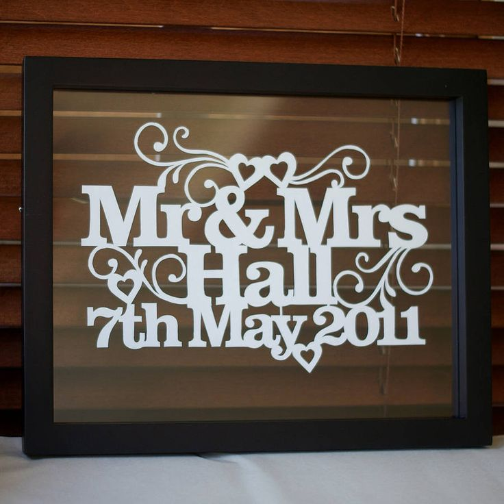 personalised wedding or anniversary papercut 1st anniversary giftsanniversary ideaspapercuttingspecial