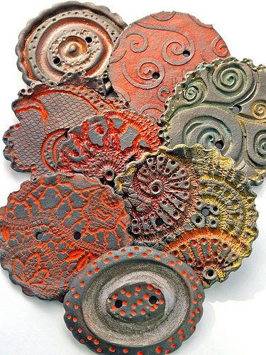 Lisa Peters ceramic buttons