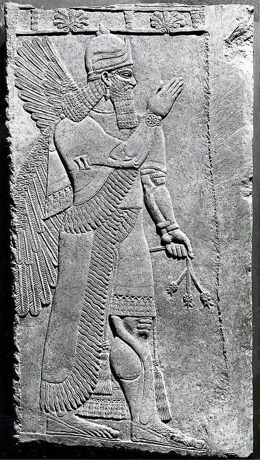 Assyrian relief panel at the Metropolitan Museum of Art