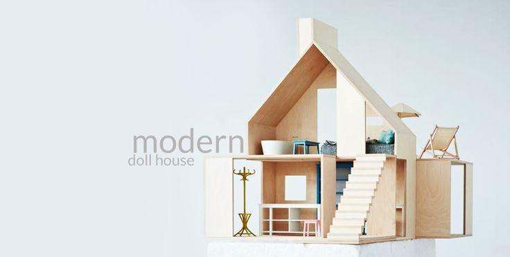 Modernistyczne domki dla lalek   Design