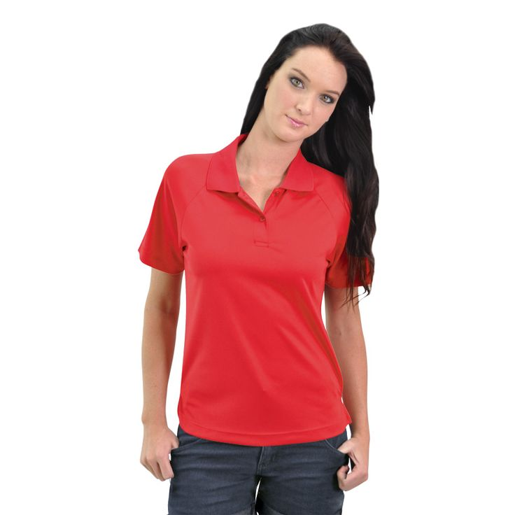 Ladies Classic Sports Polo BRAND: TEE & COTTON has pearlised engraved buttons and dries quickly through evaporation