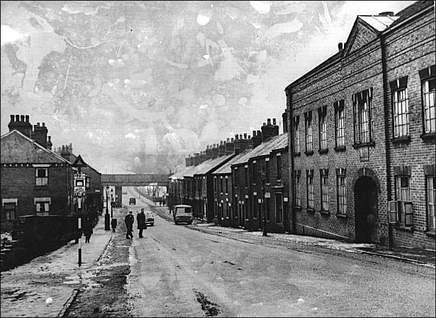 `Furlong Road` (Tunstall) looking from Christ Church at the top of Tunstall High St. towards Pittshill.