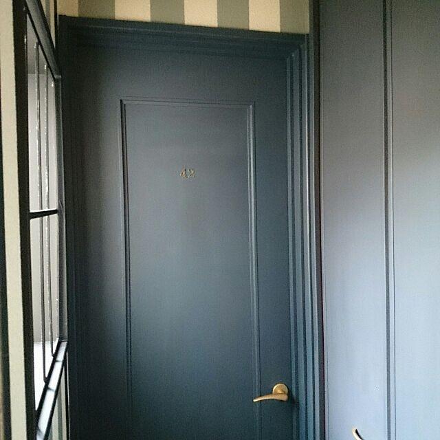 セルフペイント バターミルクペイント ドア塗り替え ドア ペイントの