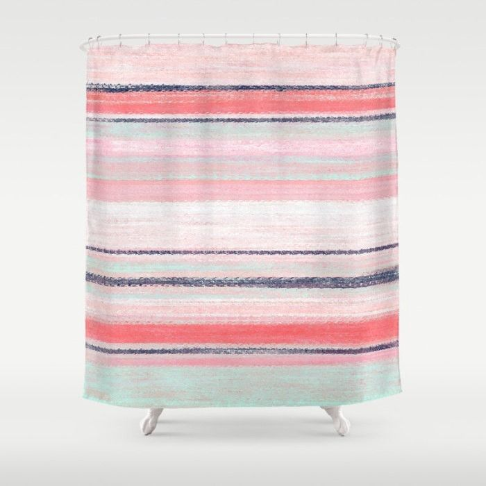 Guest Bathroom Colors: 1000+ Ideas About Coral Shower Curtains On Pinterest