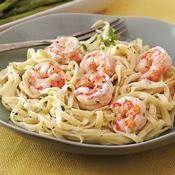 Honey-Garlic Shrimp and Linguine recipe from Betty Crocker