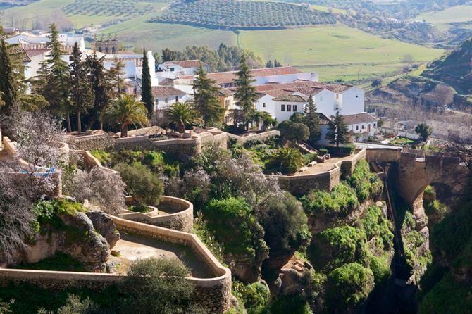 Jardins de Cuenca à Ronda, Malaga - Andalousie (Espagne)
