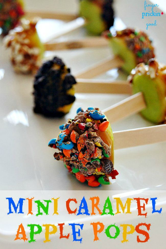 Mini Caramel Apple Pops