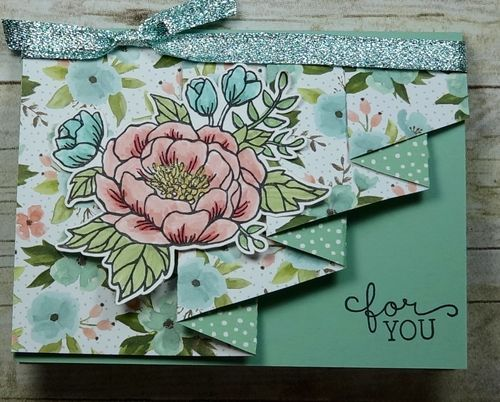 2016  VIDEO   Stampin' Up! Birthday Blossom Drapery Card   Birthday Blooms Clear-Mount Stamp Set [140658] $19.00