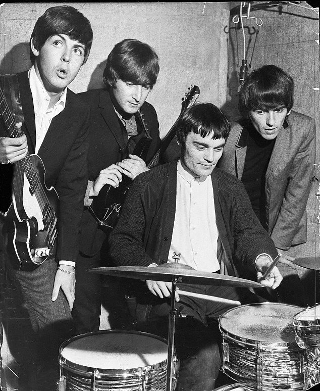 Sixties | Jimmy Nichol (seated), who stood in for Ringo Starr on the Beatles' first world tour, 1964