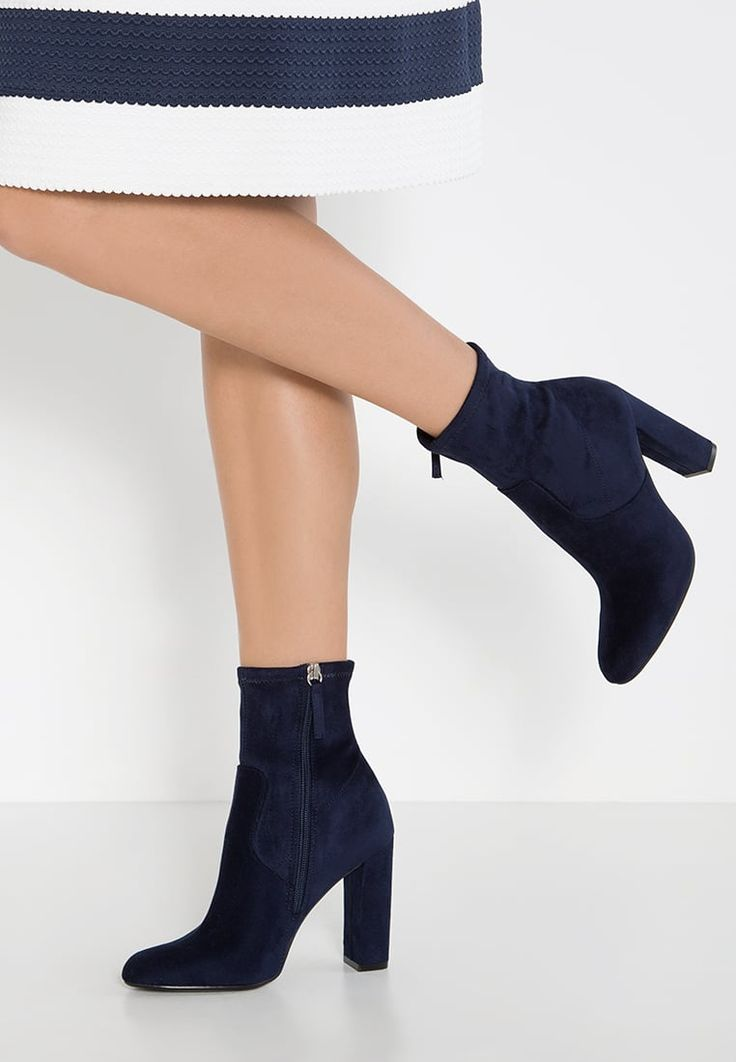 EDITT - High heeled ankle boots - navy