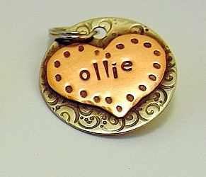 Custom pet ID tag personalized mixed metal tag for by DoggoneTags, $20.00