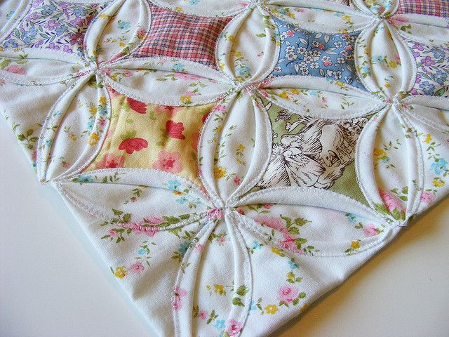 Cathedral Window Doll Quilt for quilt swap 4 by Making Ends Meet, via Flickr