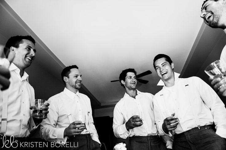 Comox Crown Isle Wedding, Black and white, groomsmen getting ready, having tequila shots