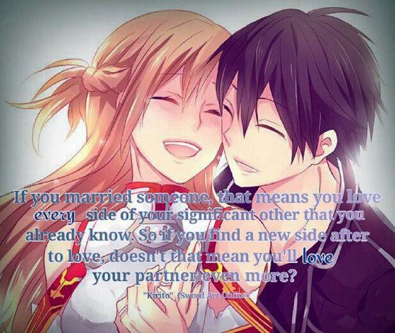 Sword Art Online Asuna and Kirito If You by TreeFairysDigitalArt