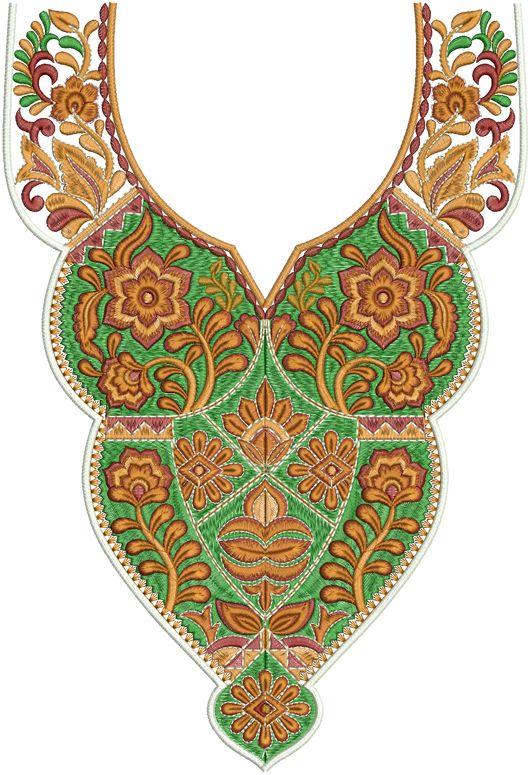 Designs Concept: Embroidery Designs - 37[Dress Nack Designs]