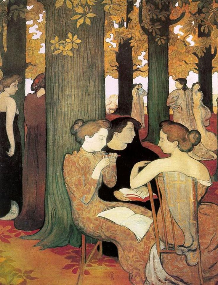 The Muses (1893).Maurice Denis (French, Symbolist, Les Nabis, 1870-1943).Oil on canvas.Musée d'Orsay.