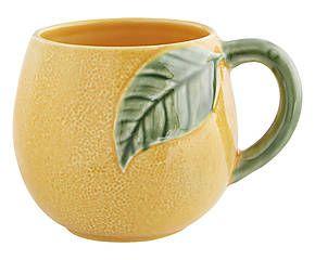 Mug faïence portugaise, jaune et vert - H10