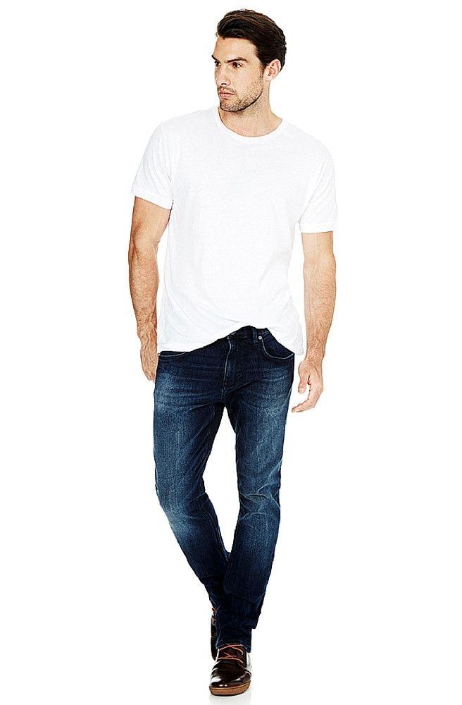 Mavi - Jake - Ink Brushed White Edge Jeans