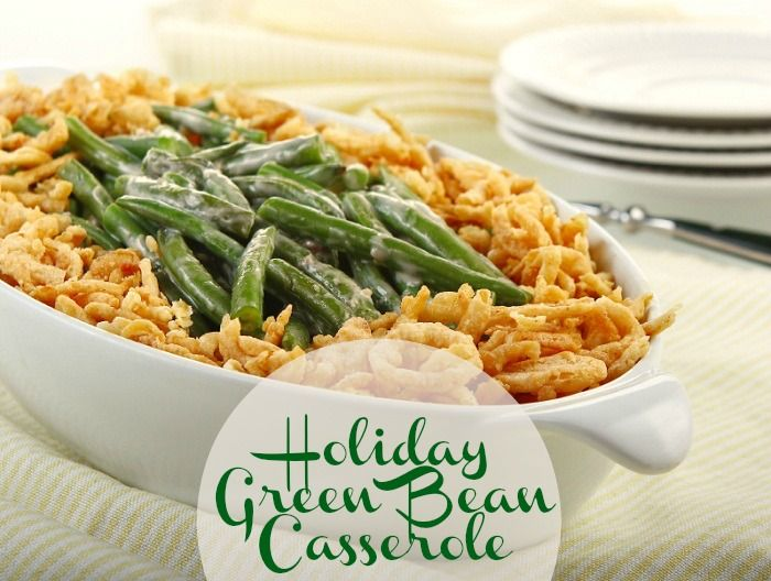 Holiday Green Bean Casserole Recipe. #thanksgiving #holidays #sides #healthy