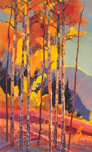 Stephen Quiller - Autumn Aspen with Leaf Contrails