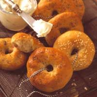 Bagels (Bread Machine) Recipe (found this on BHG website and tried with dried onions in it because I can't find onion bagels in the grocery store anymore.  They came out small but good.  Going to try again.)
