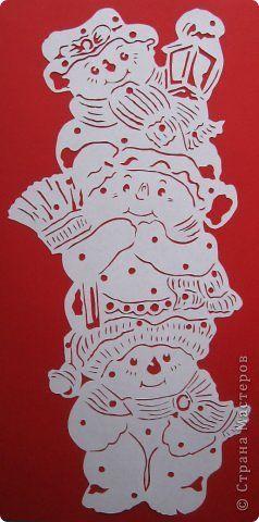 Картина панно рисунок Новый год Вырезание Не идёт ли Дед Мороз? Бумага фото 1