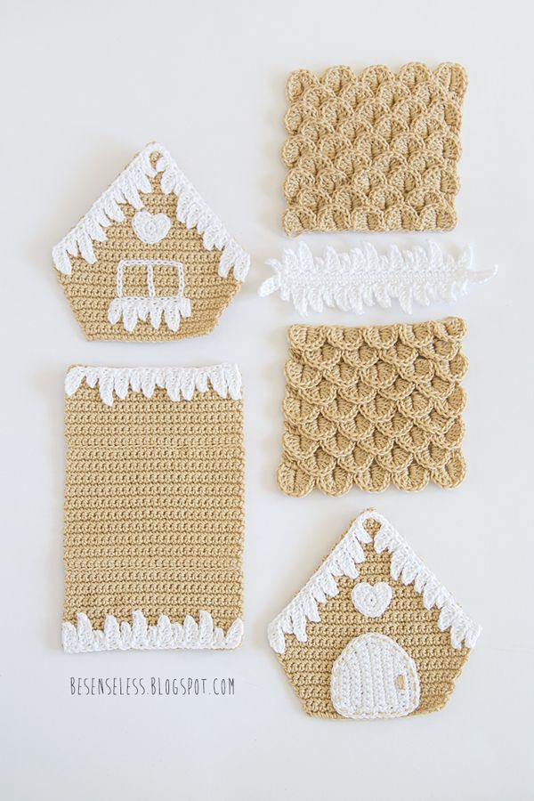 Gingerbread House | Where Is The Wonderland? / besenseless by airali #crochet #gingerbreadhouse #house