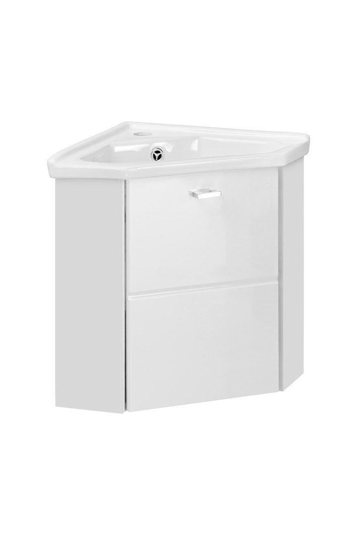 Comad Finka White Gaste Wc Eckwaschtisch Mit Unterschrank 40cm Eckmontage Eckwaschtisch Unterschrank Badezimmer Klein