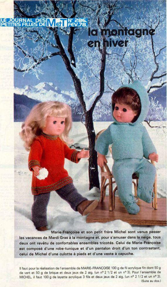 PAR AMOUR DES POUPEES :: M&T 1978-02 La Montagne en hiver (tricot)