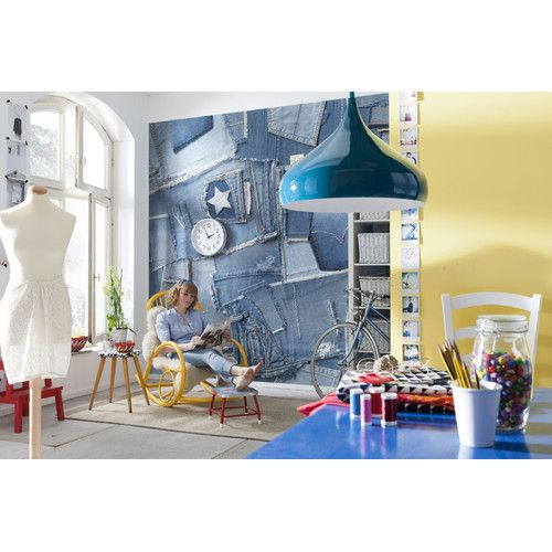 Wonderful Brewster Home Fashions Komar Jeans Wall Mural