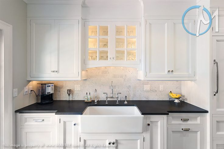 Creating A Strong Contrast To The White Backsplash And