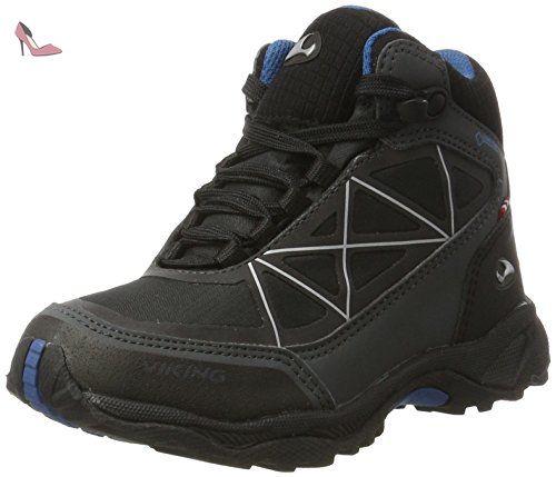 Viking Ascent II JR. GTX, Chaussures de Randonnée Hautes Mixte Enfant, Noir (Black/Silver 246), 31 EU
