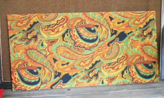 PAISLEY WALL HANGING, mod fabric wall art, picture, psychedelic decor. $20.00, via Etsy.