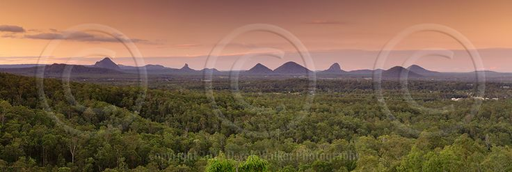 The Glasshouse Mountains at sunset, in Queensland, Australia.  For image licensing enquiries, please feel welcome to contact me at derekwalker73@bigpond.com  Cheers :)