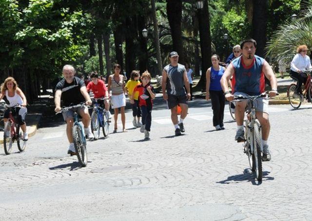 En bicicleta por Buenos Aires y Rosario.